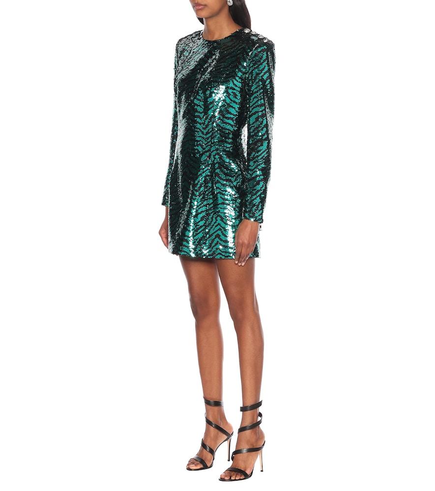 Sequined zebra dress by Balmain