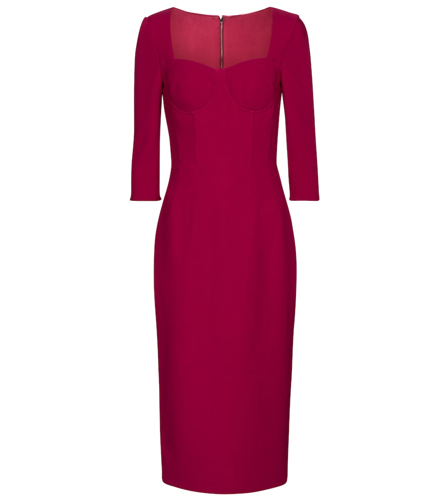 Exclusive to Mytheresa – Bustier cr?e sheath dress by Dolce & Gabbana