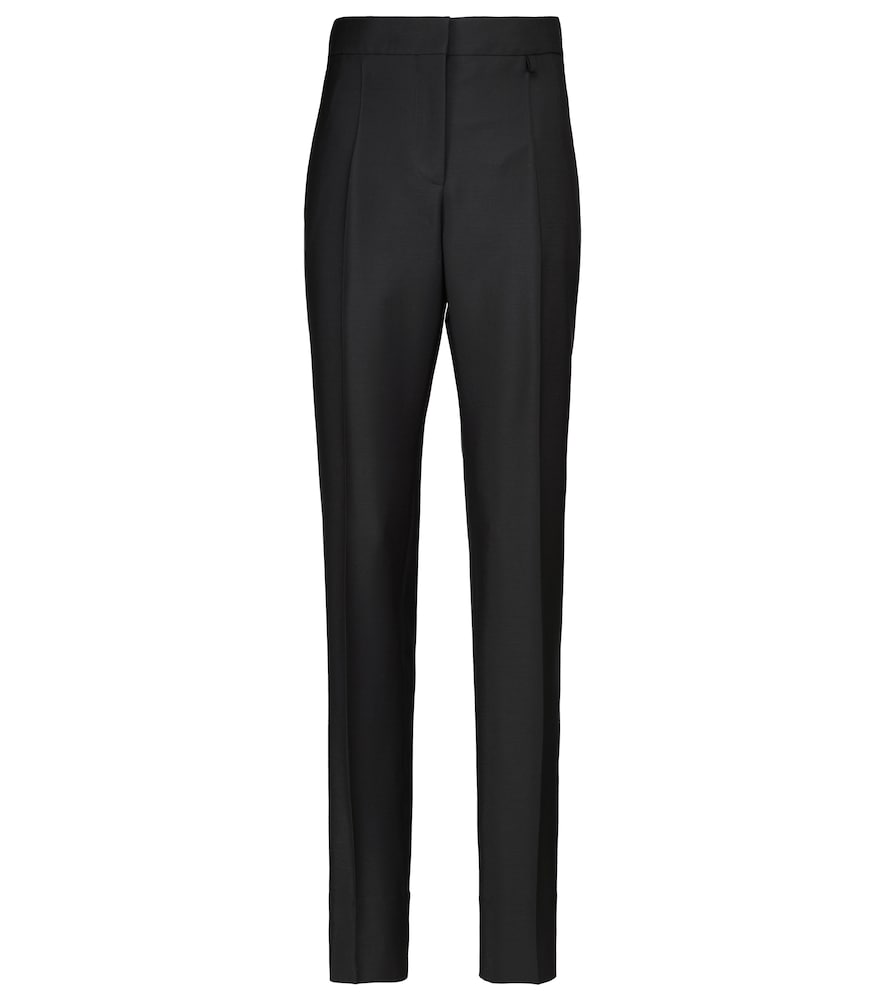Givenchy Slim pants HIGH-RISE SLIM WOOL AND MOHAIR PANTS
