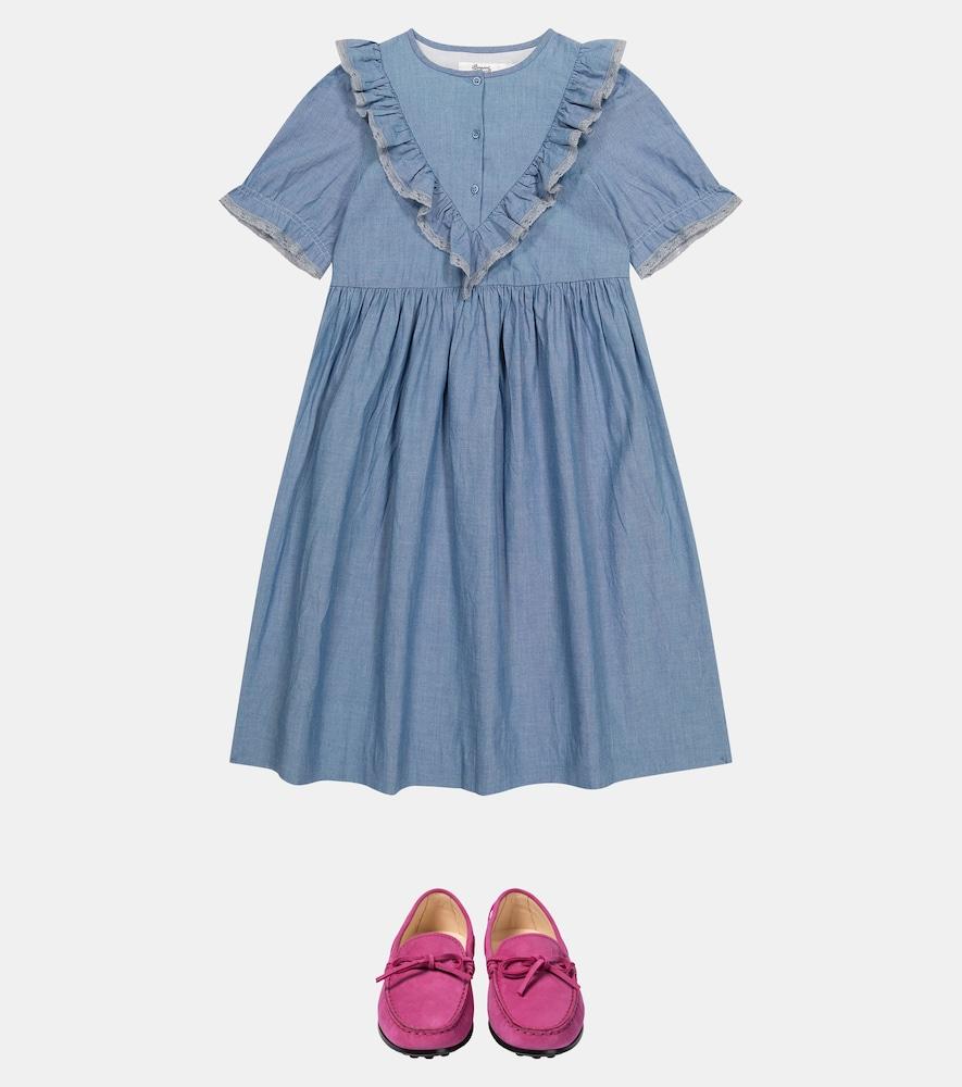 BONPOINT Cottons SAMELIE COTTON CHAMBRAY DRESS