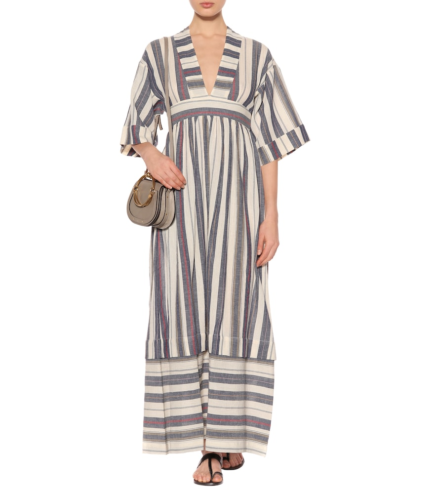 Ferrers striped cotton dress by Three Graces London
