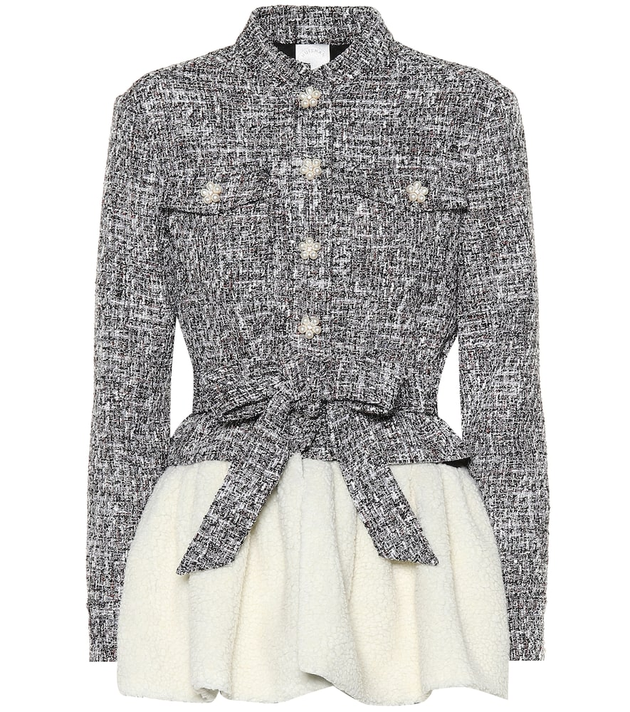 HUISHAN ZHANG EMBELLISHED TWEED JACKET