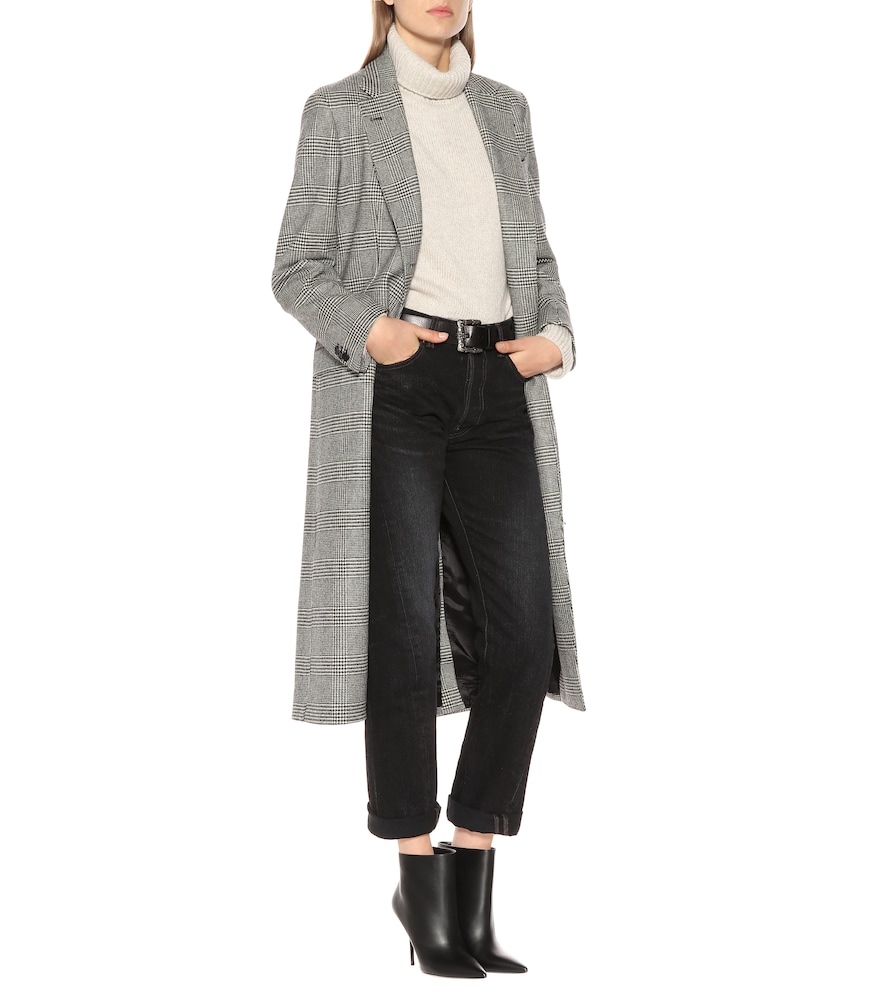 The Tatjana checked wool coat by Giuliva Heritage Collection