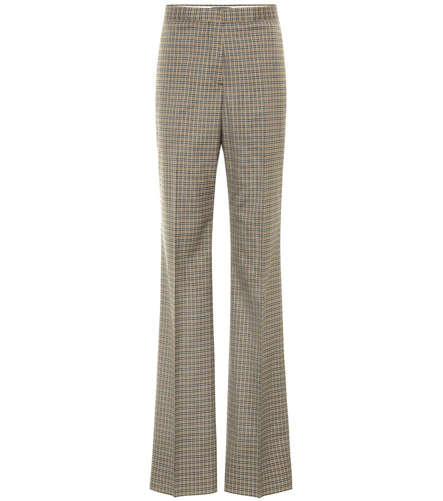Pantalon Otis en laine mélangée à carreaux