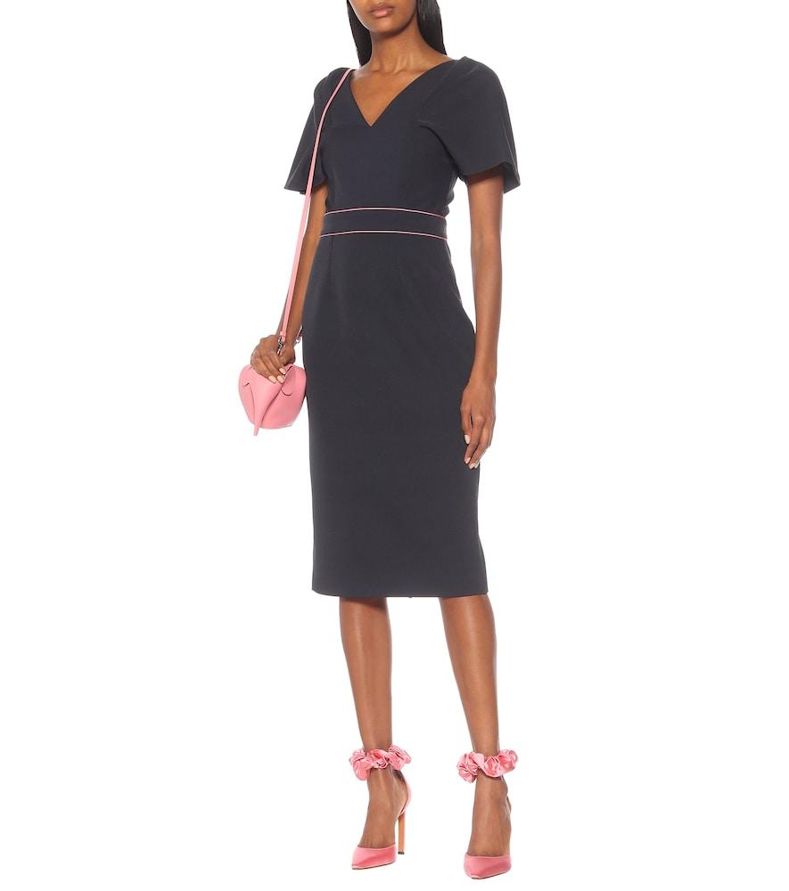 Tiana crêpe midi dress by Roksanda