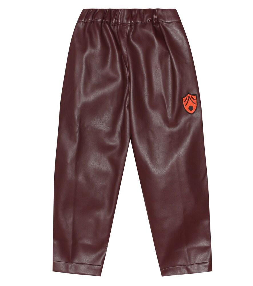 Pantalon Camel en cuir synthétique
