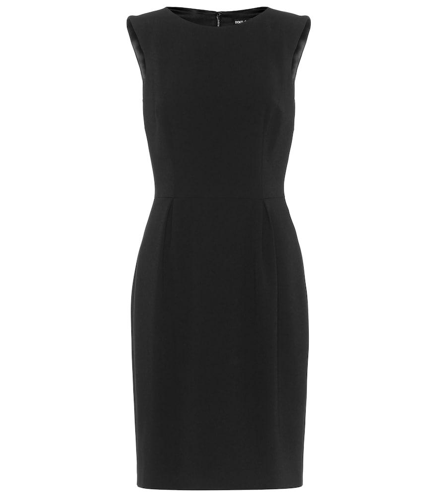 Sleeveless stretch-cr?e dress by Dolce & Gabbana