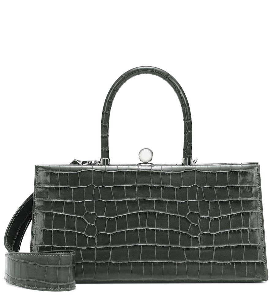 Sister croc-effect leather shoulder bag