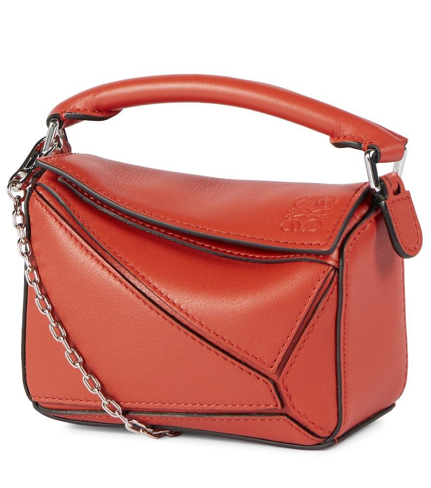 Paula's Ibiza Puzzle Nano leather shoulder bag