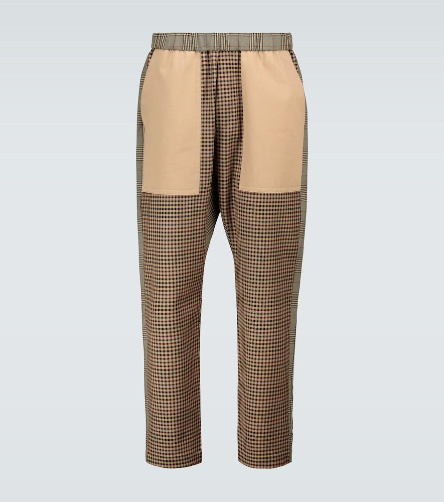 Checked paneled pants