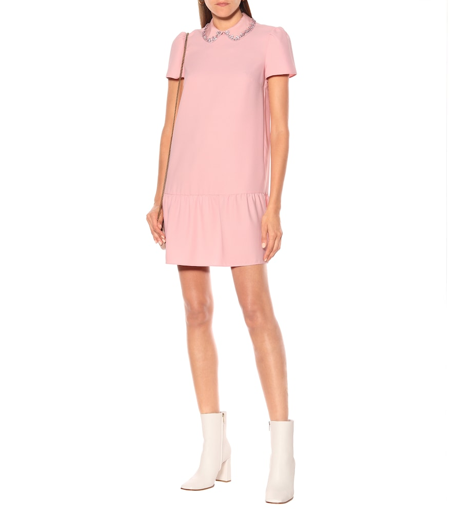 Embellished crêpe-envers minidress by REDValentino