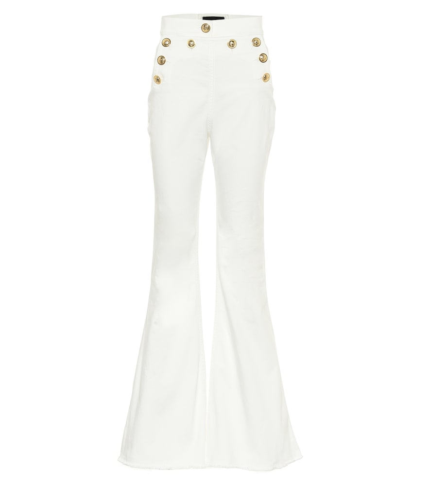 Stretch-cotton flared jeans