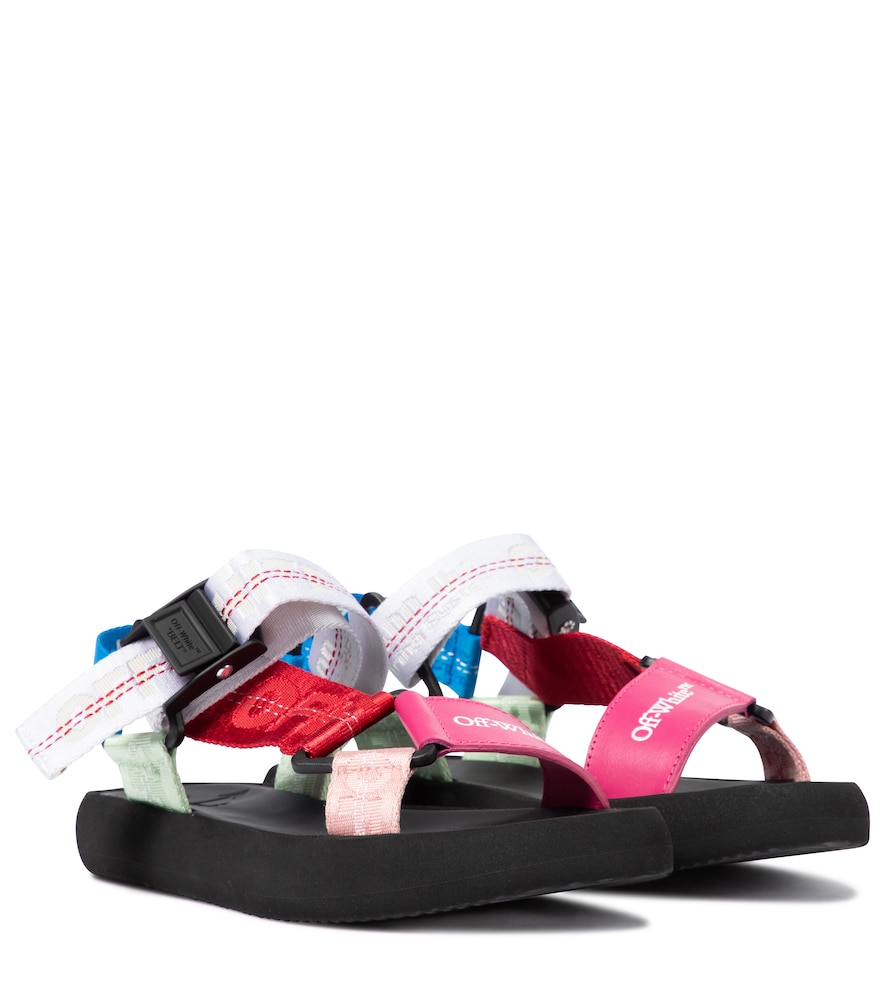 Off-White CANVAS AND LEATHER TREKKING SANDALS