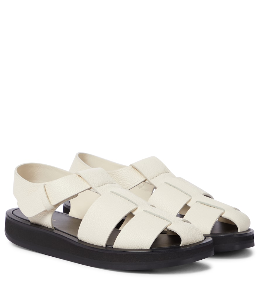 The Row Sandals FISHERMAN LEATHER SANDALS