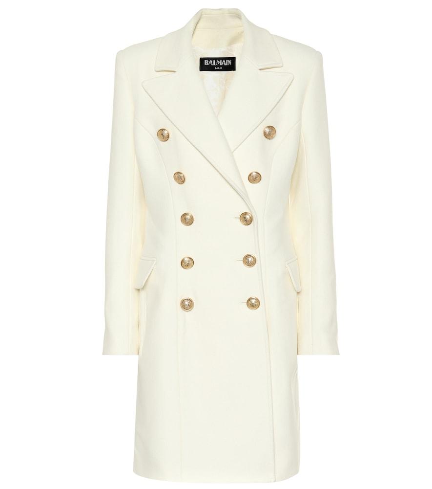 Manteau en laine et cachemire mélangés