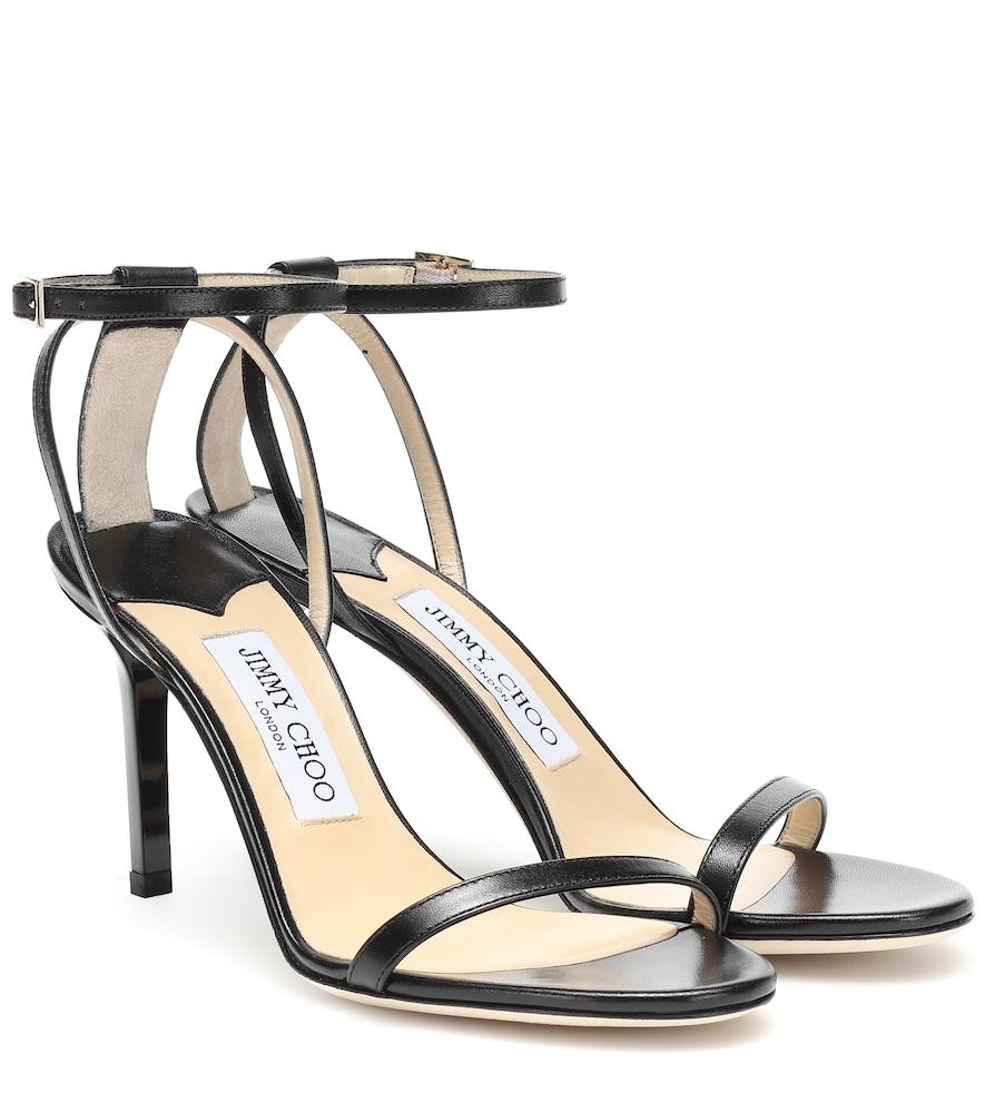 JIMMY CHOO | Minny 85 leather sandals | Goxip