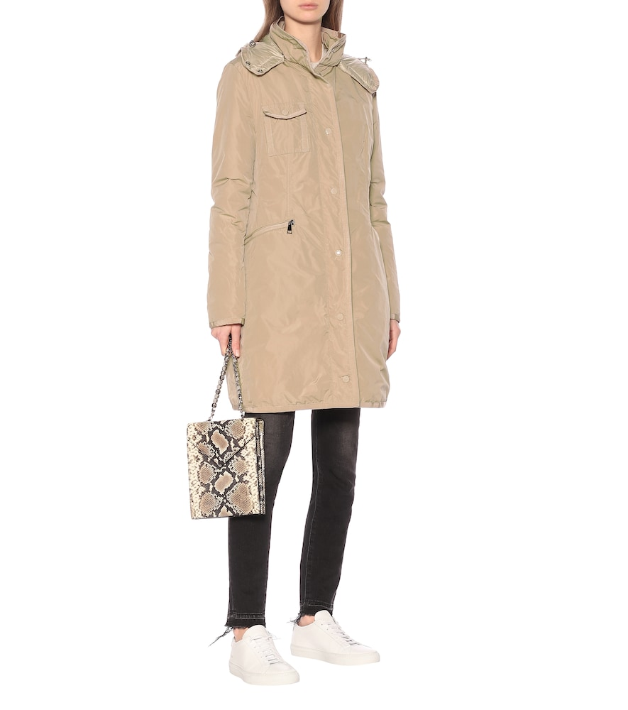 Mauve down-filled jacket by Moncler