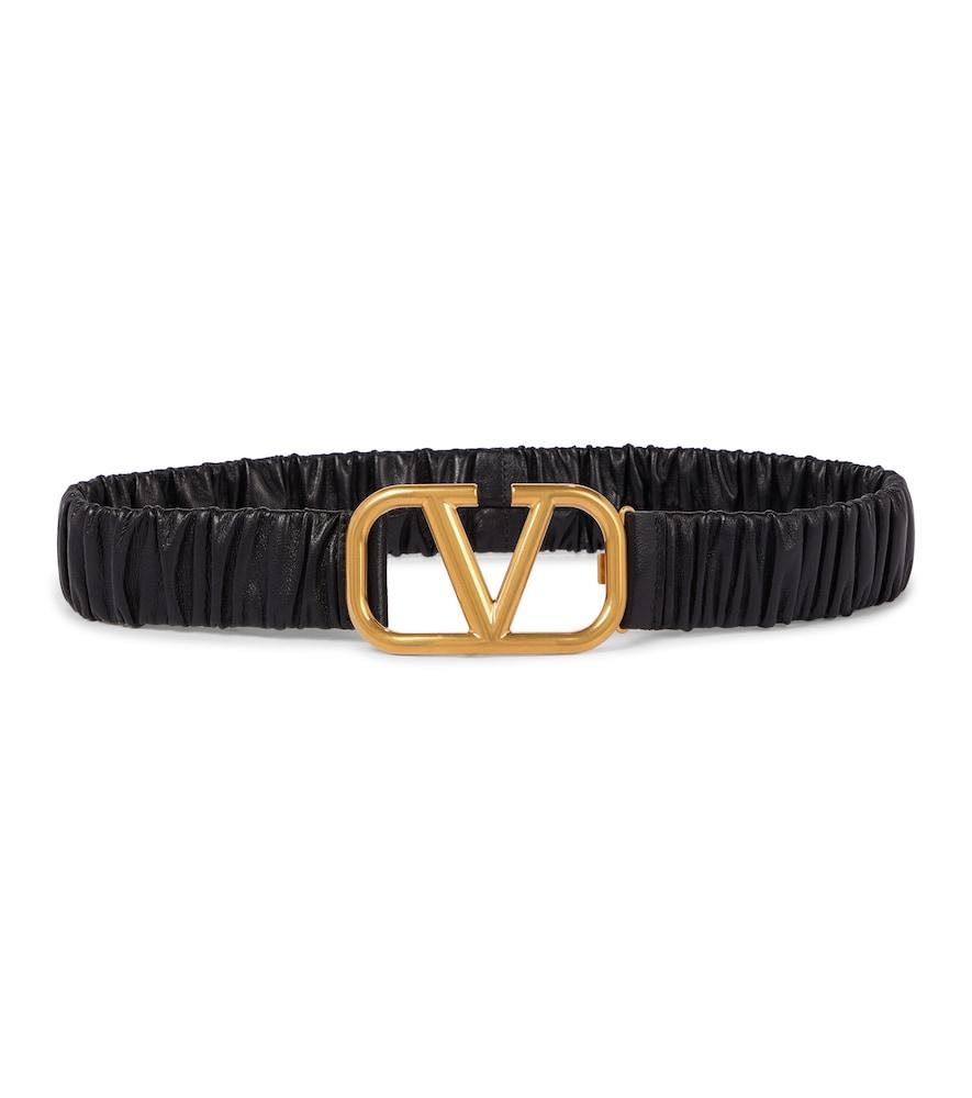 Valentino Belts VLOGO LEATHER BELT