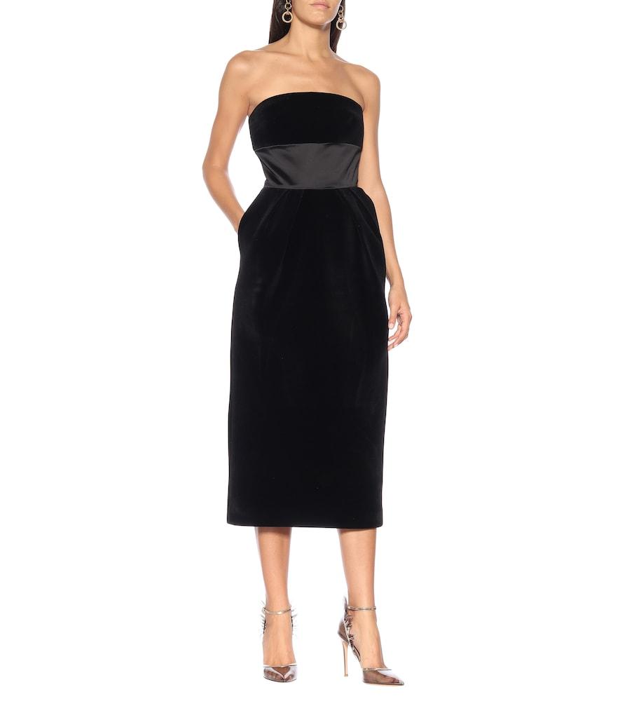 Velvet midi dress by David Koma