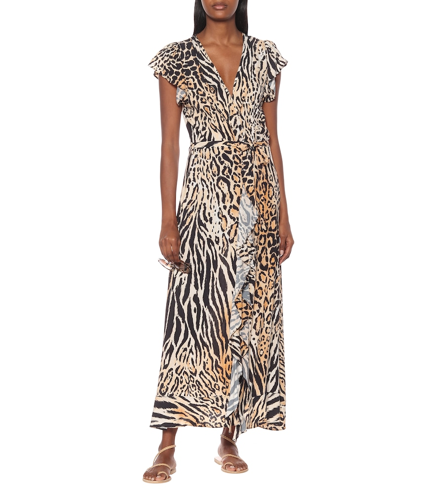 Brianna printed maxi wrap dress by Melissa Odabash