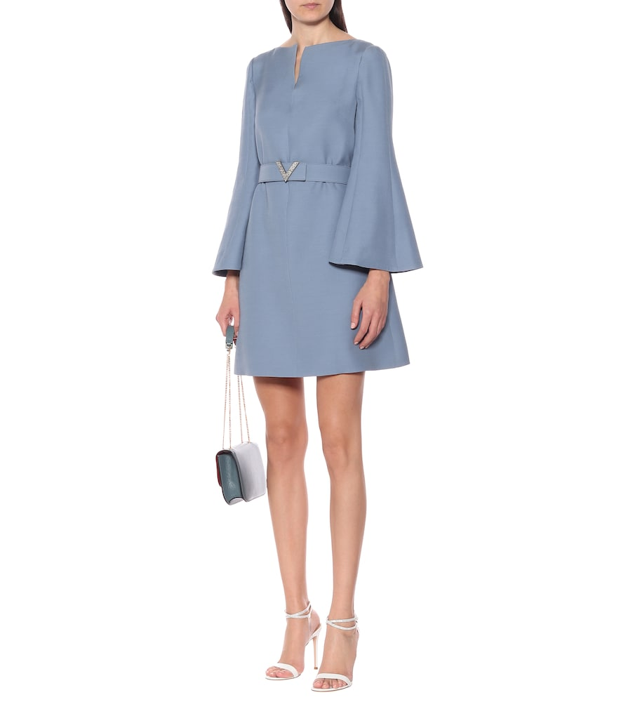 Belted wool and silk minidress by Valentino