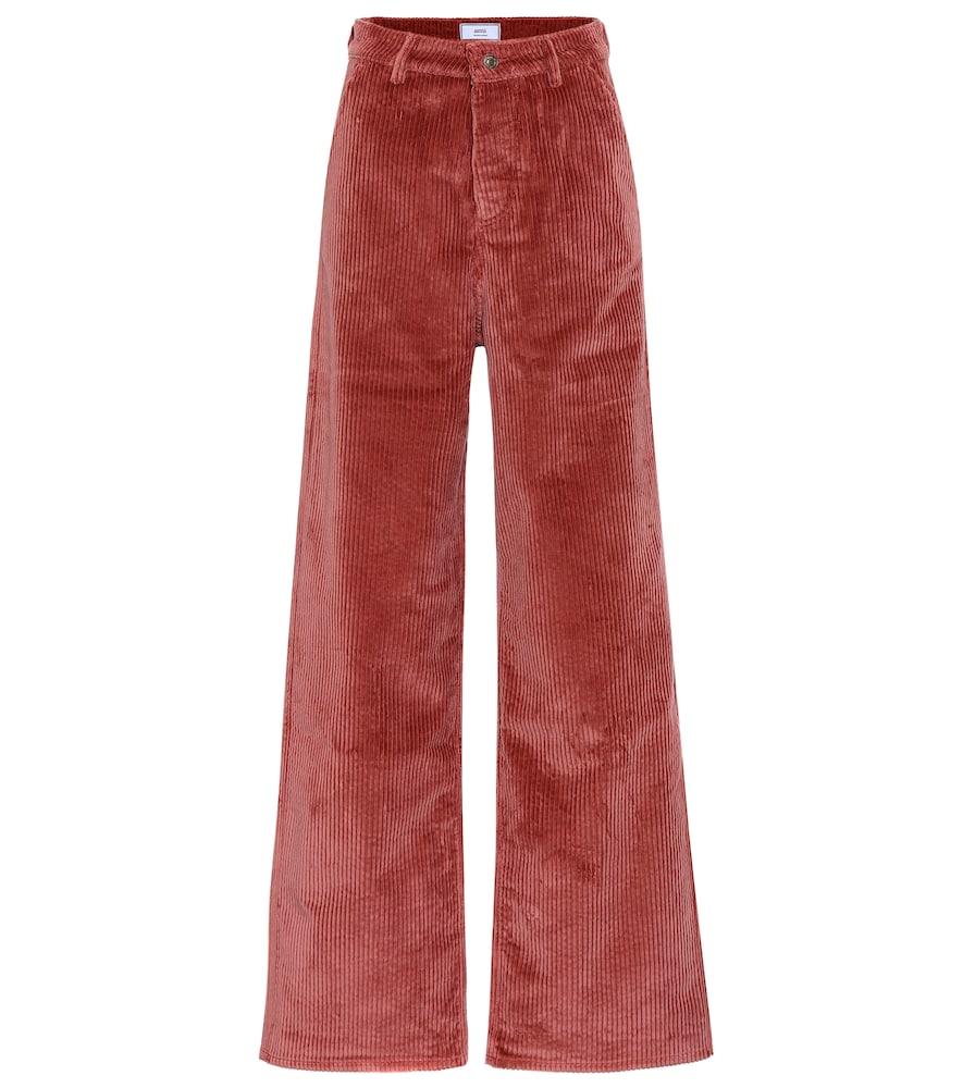 Pantalon ample en velours côtelé de coton - AMI - Modalova
