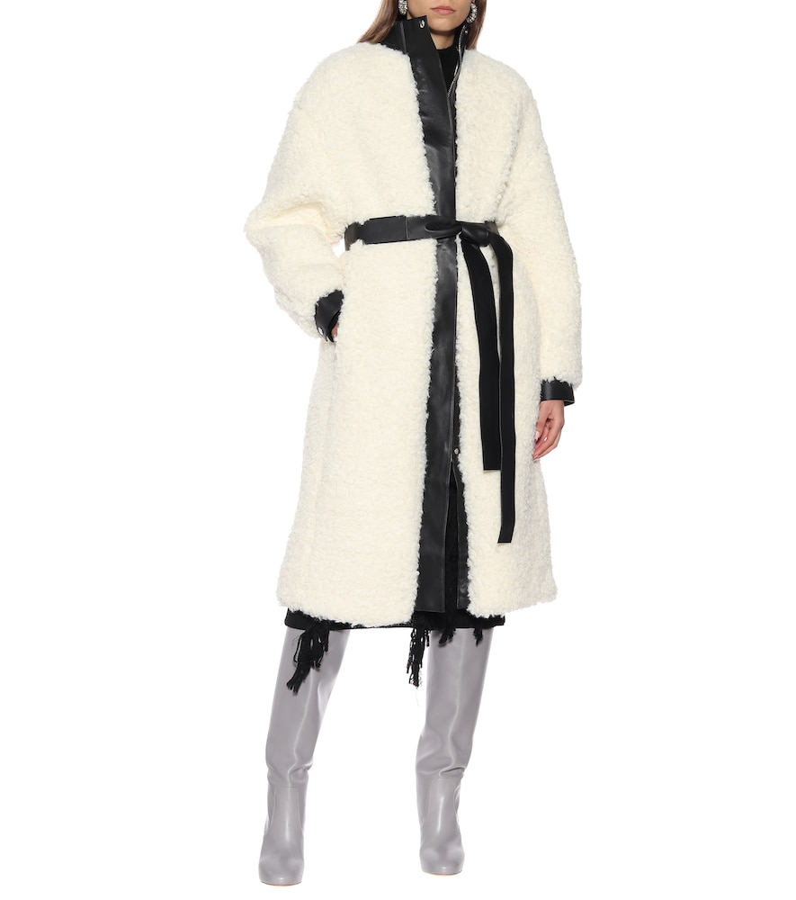 Faux shearling and leather coat by Acne Studios