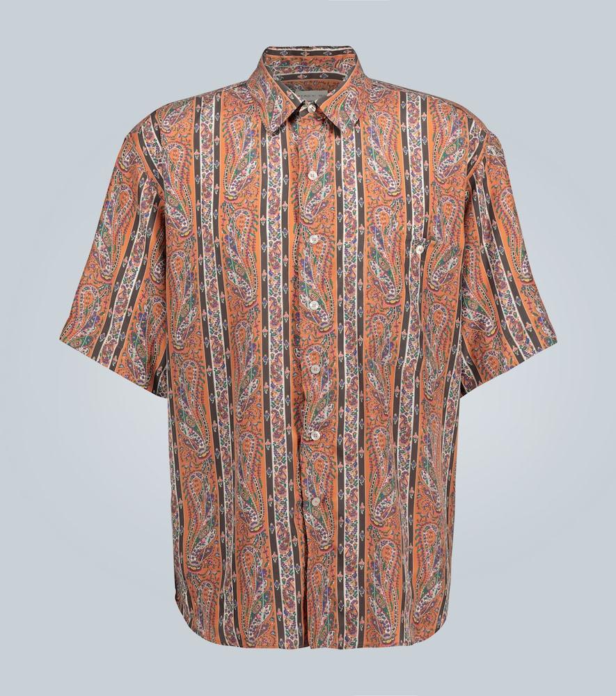 Striped paisley printed shirt