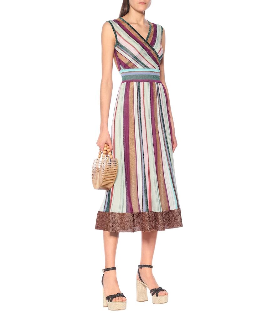 Striped stretch-silk dress by Missoni