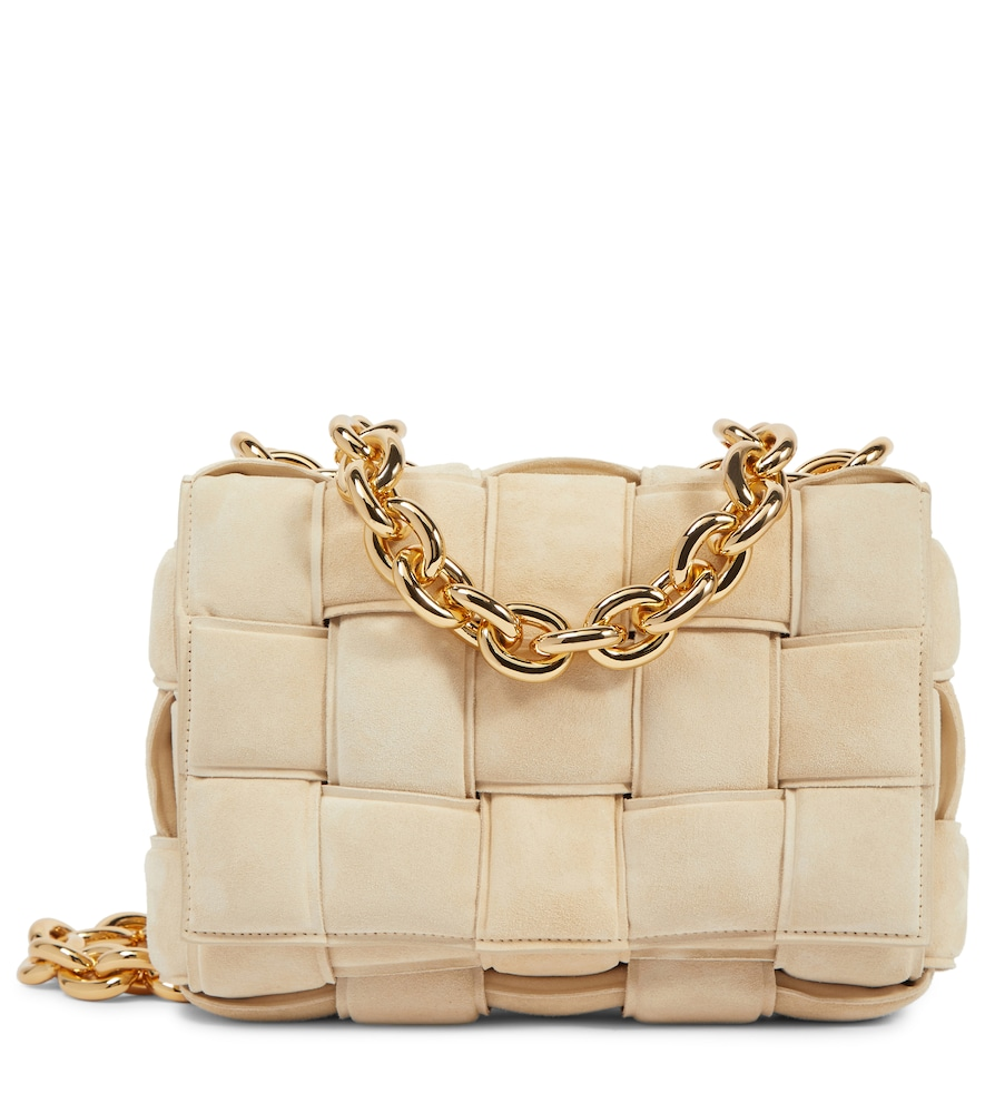 Exclusive to Mytheresa - The Chain Cassette suede shoulder bag