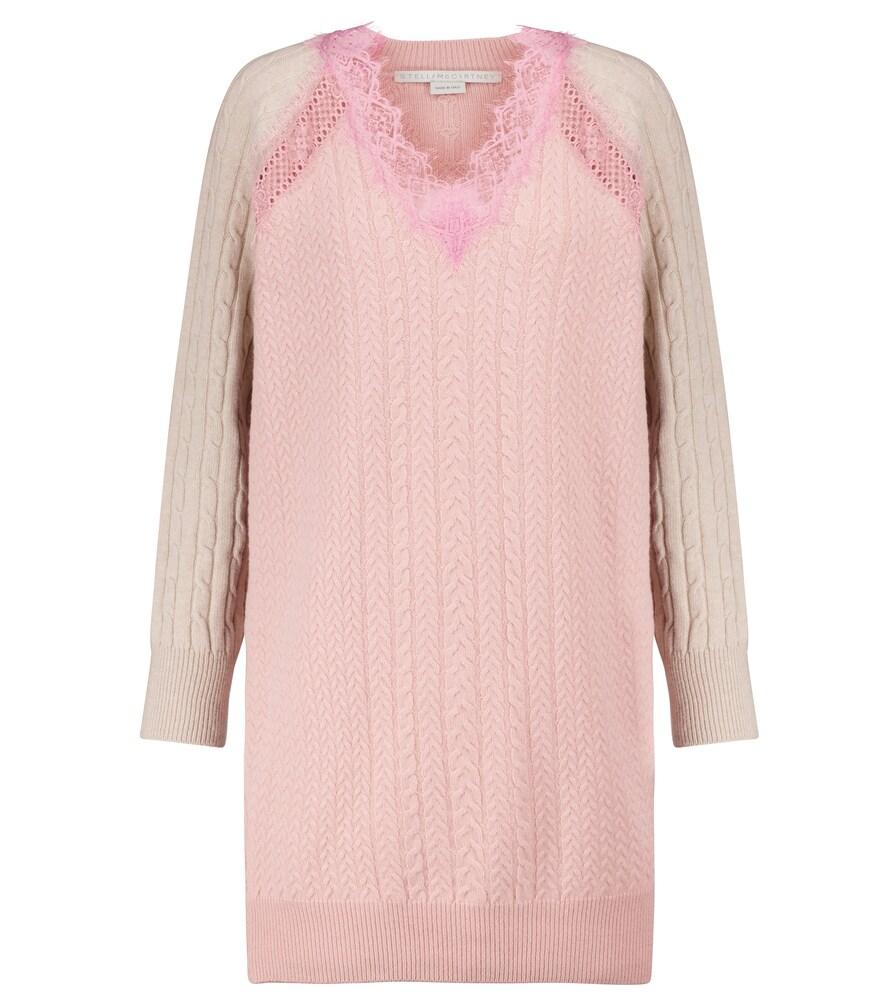 Lace-trimmed wool minidress by Stella McCartney