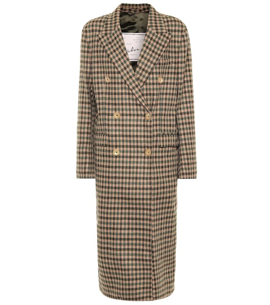 Manteau The Cindy en laine à carreaux