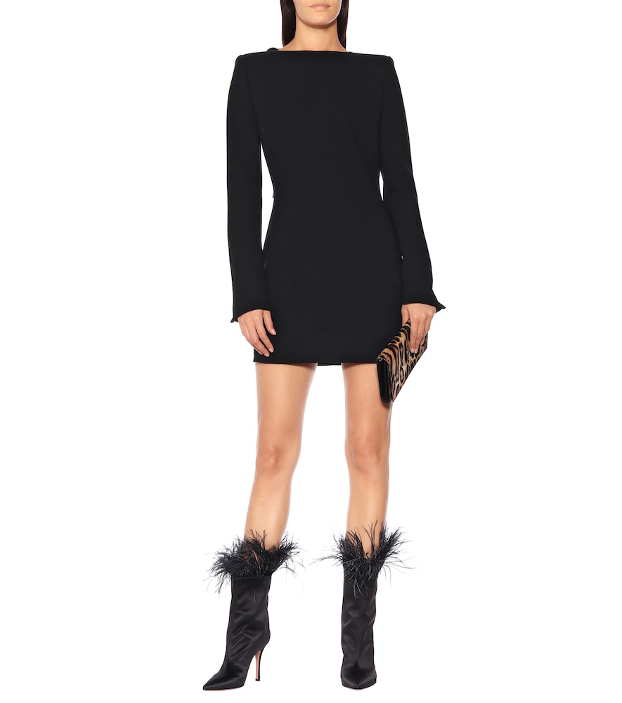 Photo of Wool-cr?e minidress by Saint Laurent - shop Saint Laurent Dresses, Mini Dresses online