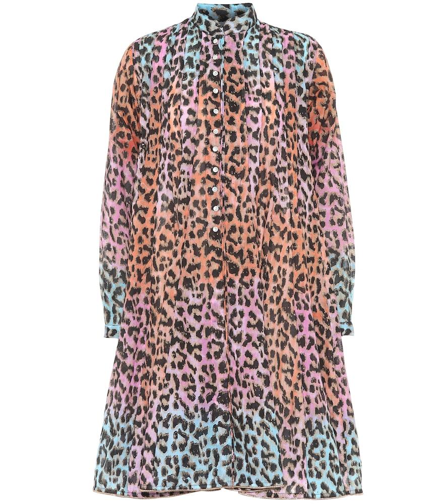Robe chemise imprimée en coton