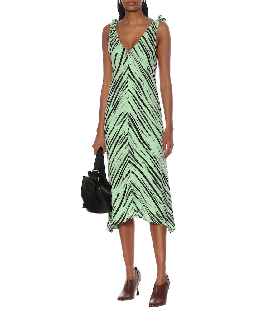 Printed crêpe de chine dress by Proenza Schouler