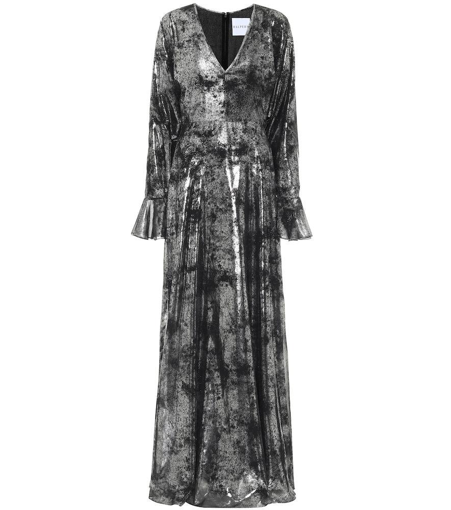 Printed georgette gown by Halpern