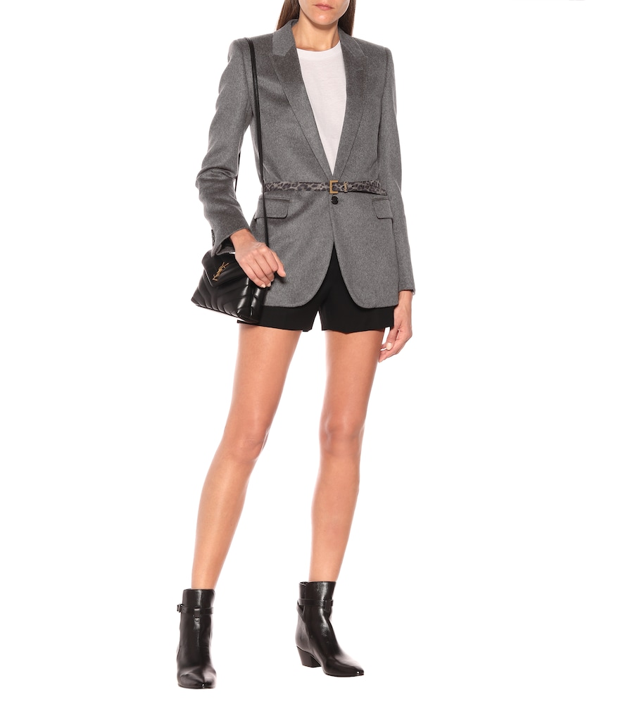 Cashmere and wool flannel blazer by Saint Laurent