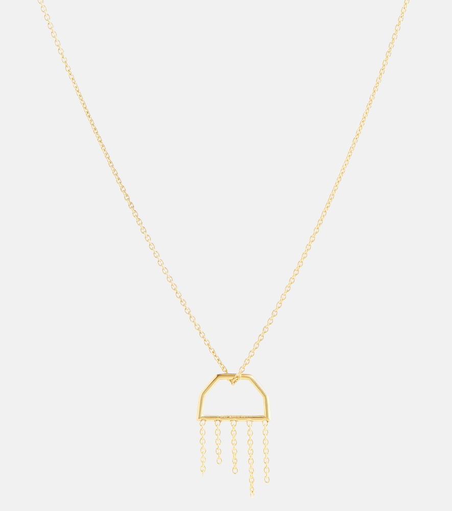 Medusa 9kt gold necklace