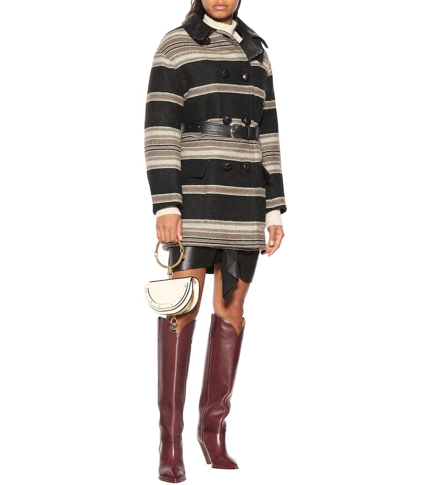 Hilda striped wool-blend coat by Isabel Marant