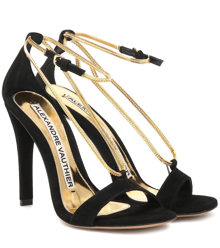 ALEXANDRE VAUTHIER | Alena suede sandals | Goxip