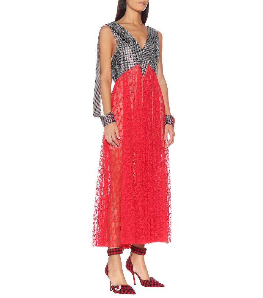 Crystal and lace gown by Christopher Kane