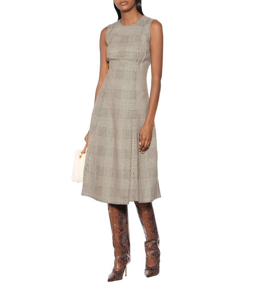 Checked cotton and linen dress by Polo Ralph Lauren