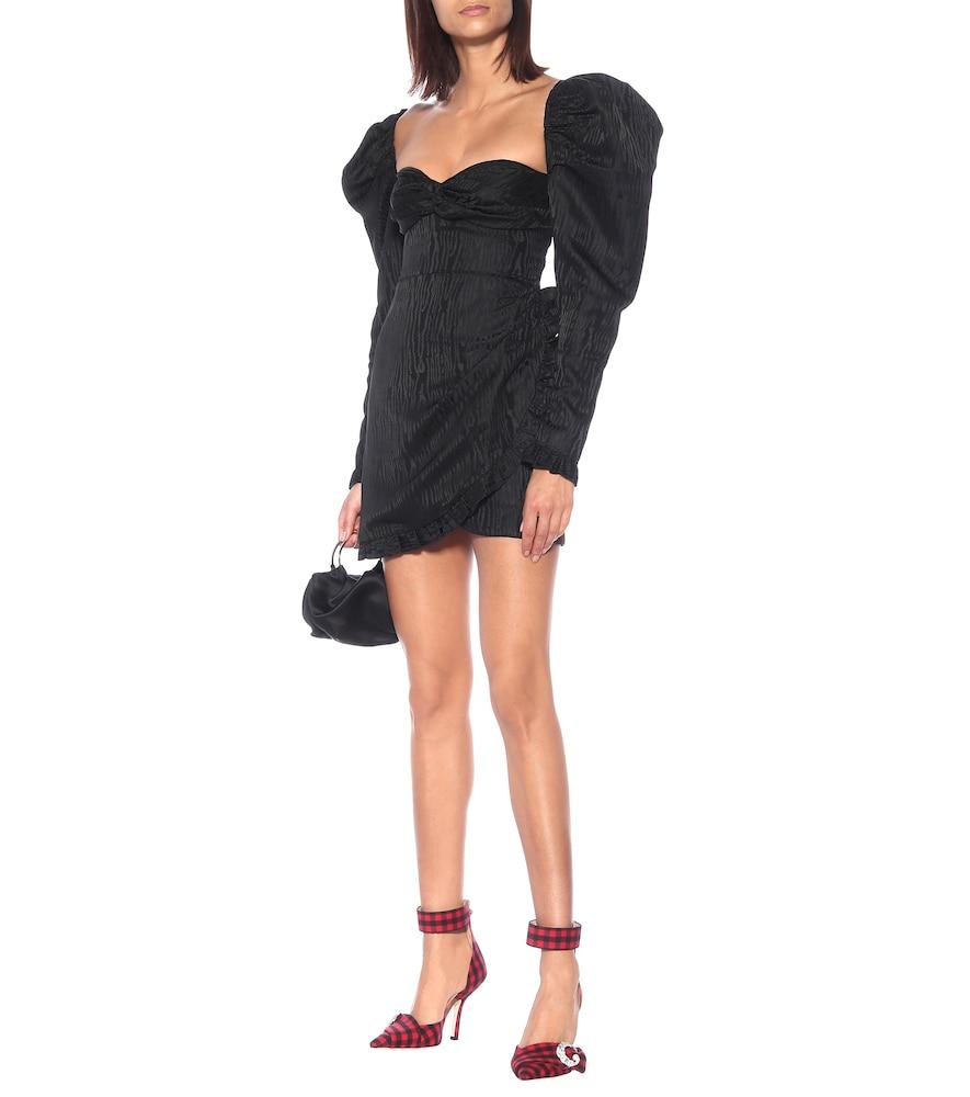 Moiré-jacquard minidress by Alessandra Rich