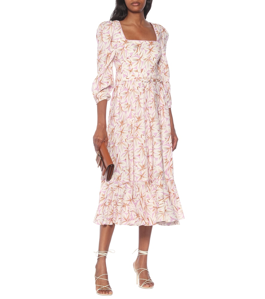 Ella floral linen-blend midi dress by Jonathan Simkhai