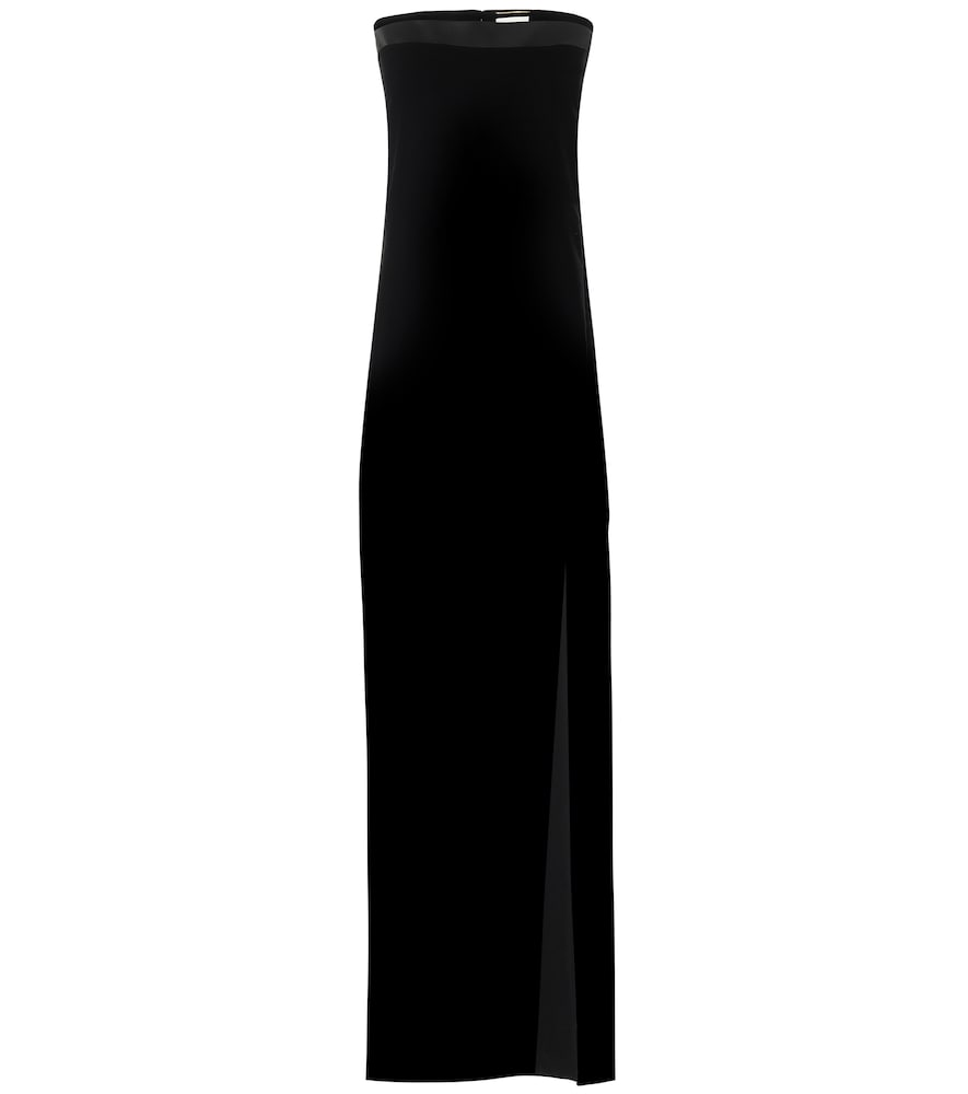Robe longue en velours - Saint Laurent - Modalova