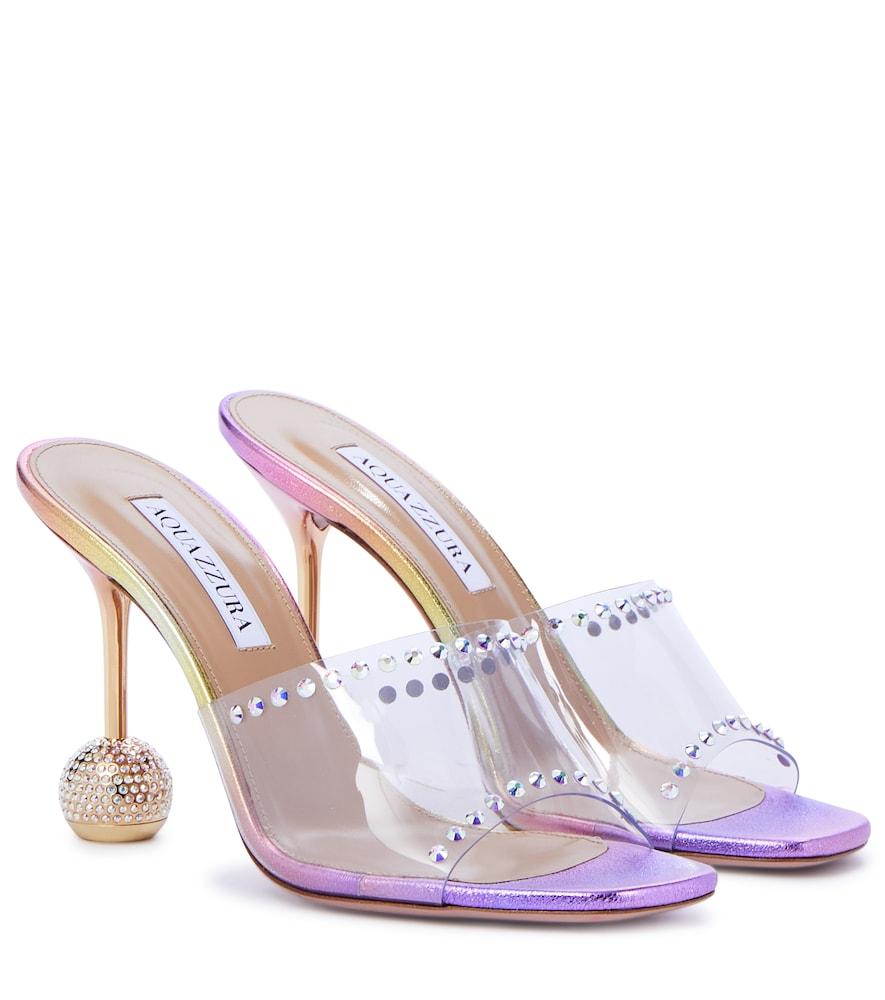 Aquazzura Shoes SECRETS 95 EMBELLISHED PVC SANDALS
