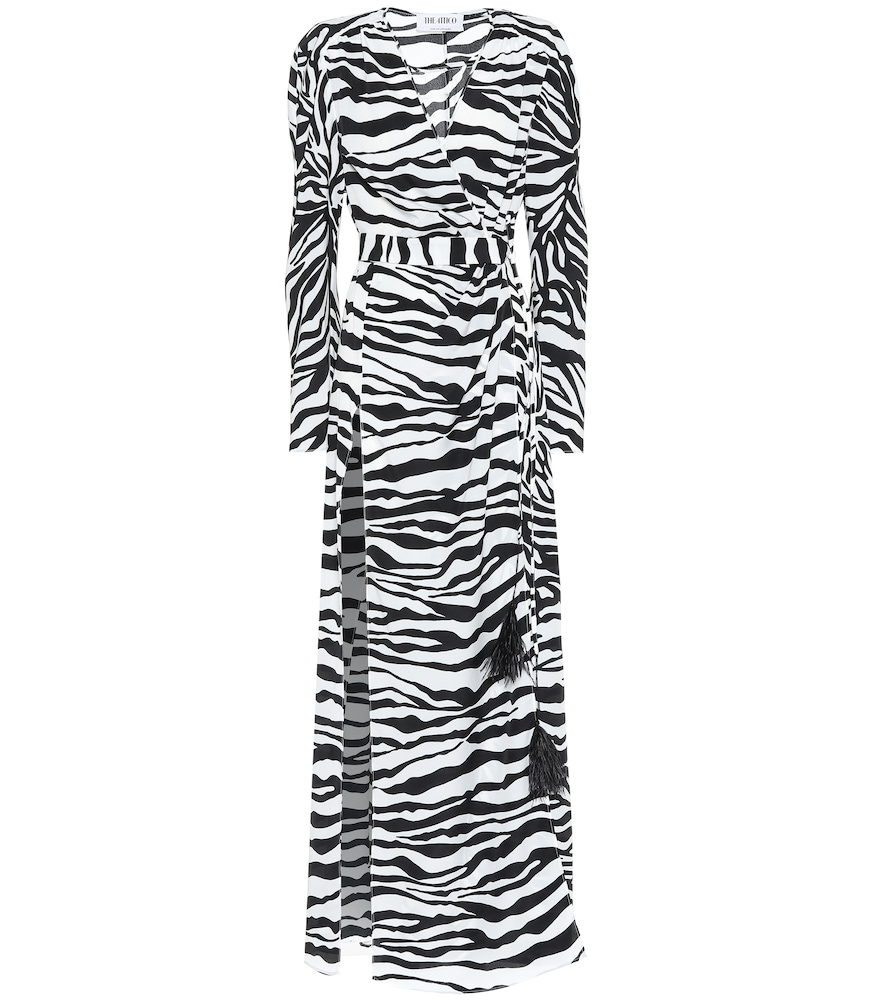 Attico Dresses ZEBRA-PRINT MAXI DRESS