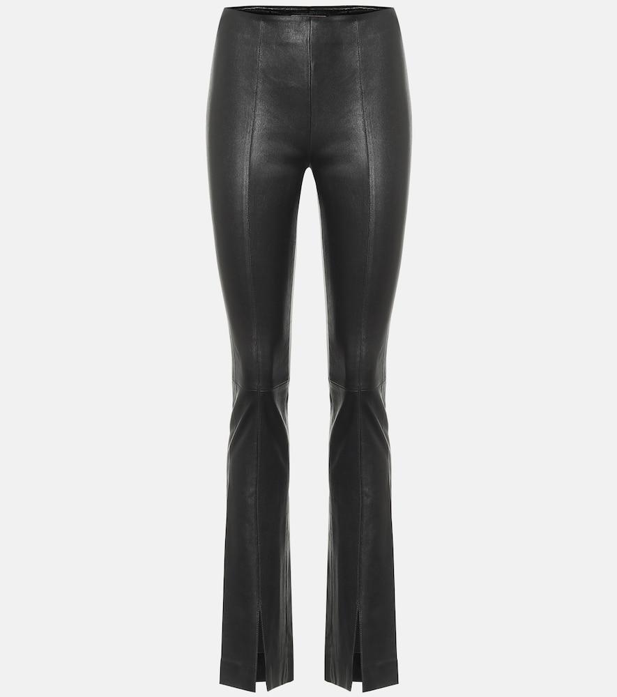 Pantalon Vegas Strip en cuir à taille haute