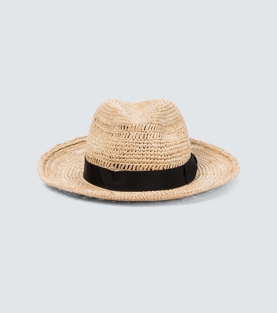 Borsalino Pamela Brimmed Straw Hat In Beige