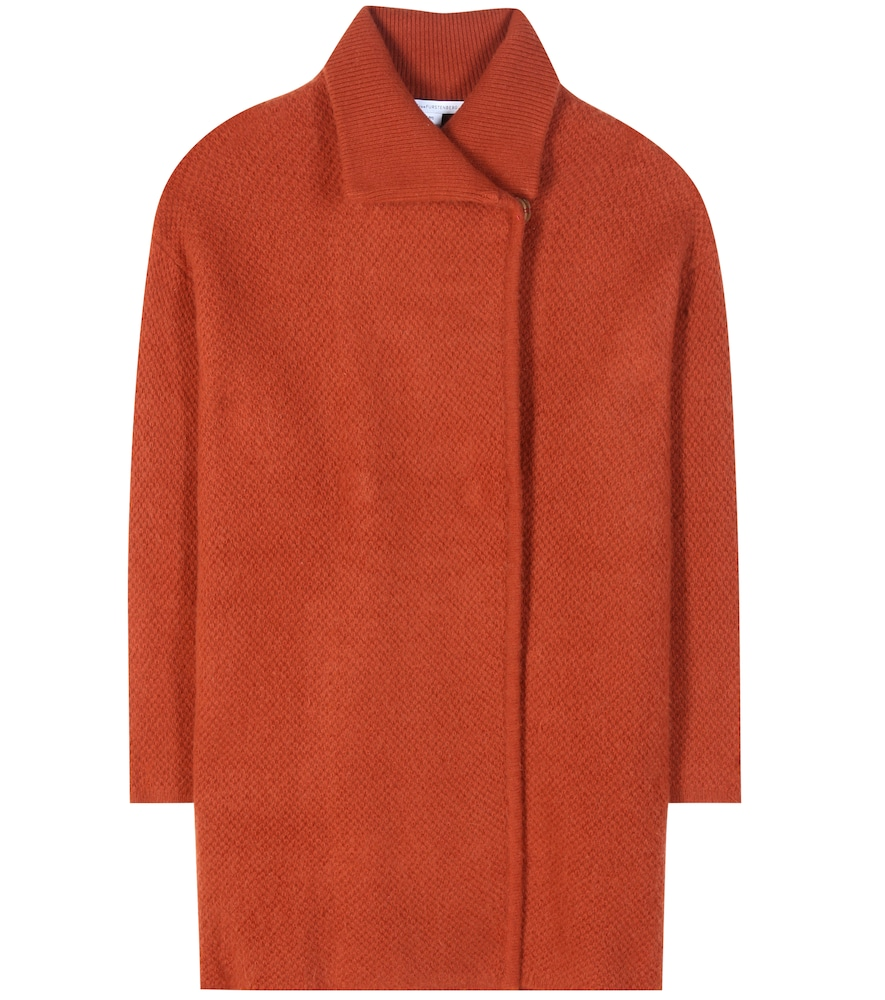 Avril wool, cashmere and angora-blend coat